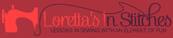Loretta's In Stitches Logo